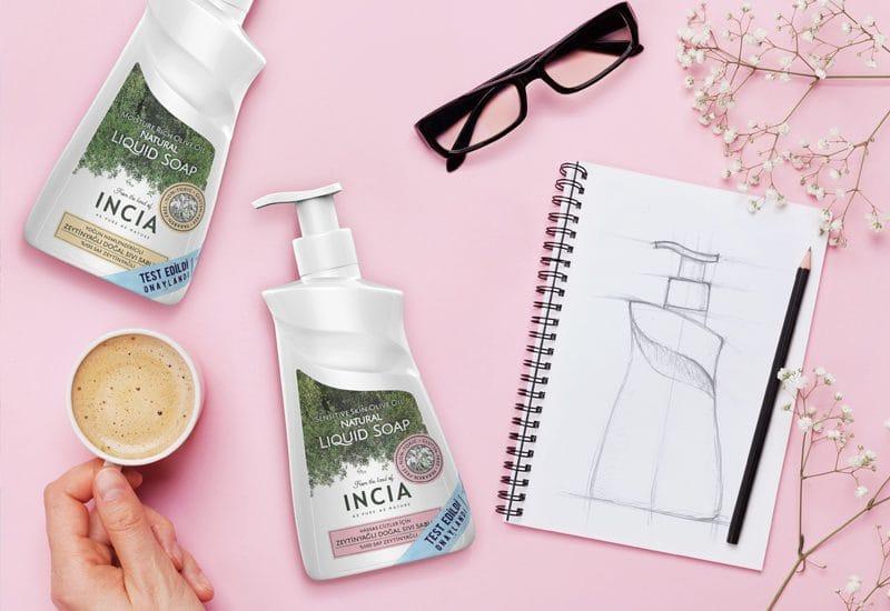 Incia Sıvı El Sabunu Ambalaj Tasarımı