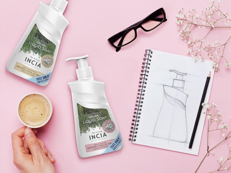 Incia Sıvı El Sabunu Ambalaj Tasarımı - Ambalaj Tasarımı - Tasarım Ajansı